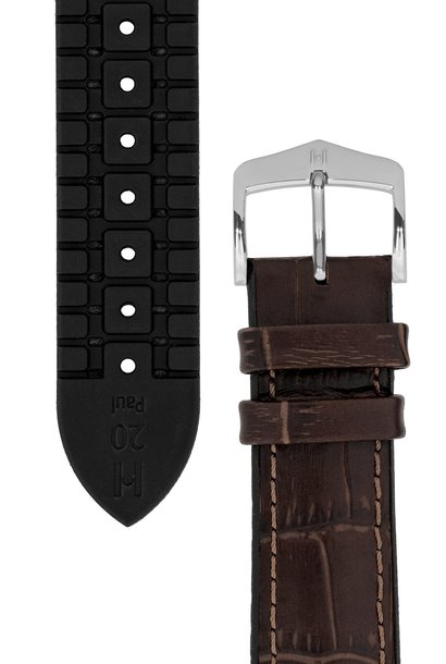 Watchband Paul calf leather + Premium Caoutchouc (Rubber) 21 mm