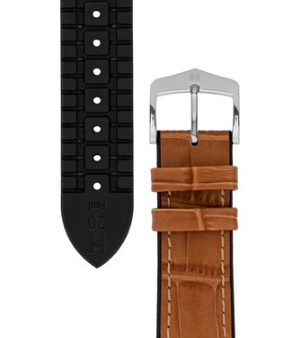 Hirsch Watchband Paul calf leather + Premium Caoutchouc (Rubber) 24 mm