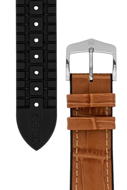 Watchband Paul calf leather + Premium Caoutchouc (Rubber) 24 mm