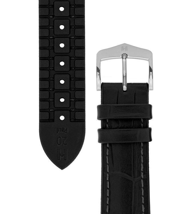 Horlogebandje Paul Kalfsleer + Premium Caoutchouc (Rubber) 24 mm