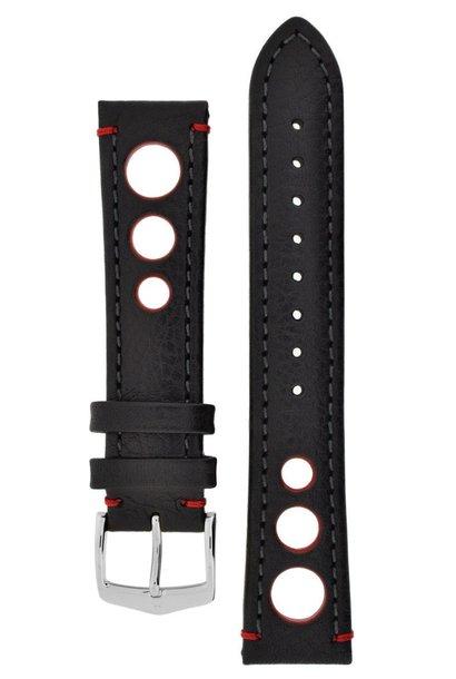 Watchband Rally calf leather  24 mm