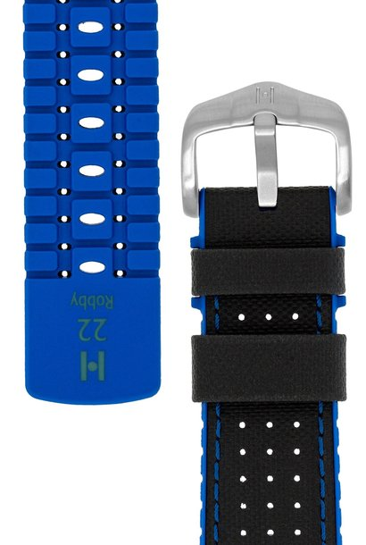 Watchband Robby calf leather + Premium Rubber 22 mm