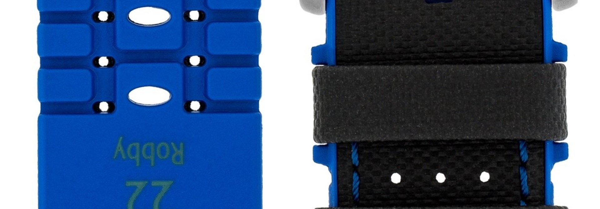 Horlogebandje Robby Kalfsleer + Premium Rubber 24 mm