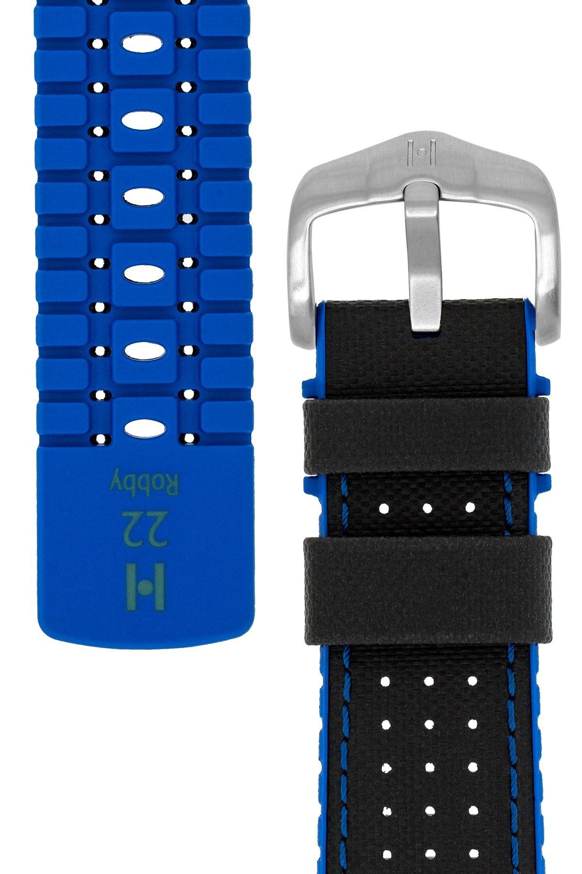 Horlogebandje Robby Kalfsleer + Premium Rubber 24 mm-1