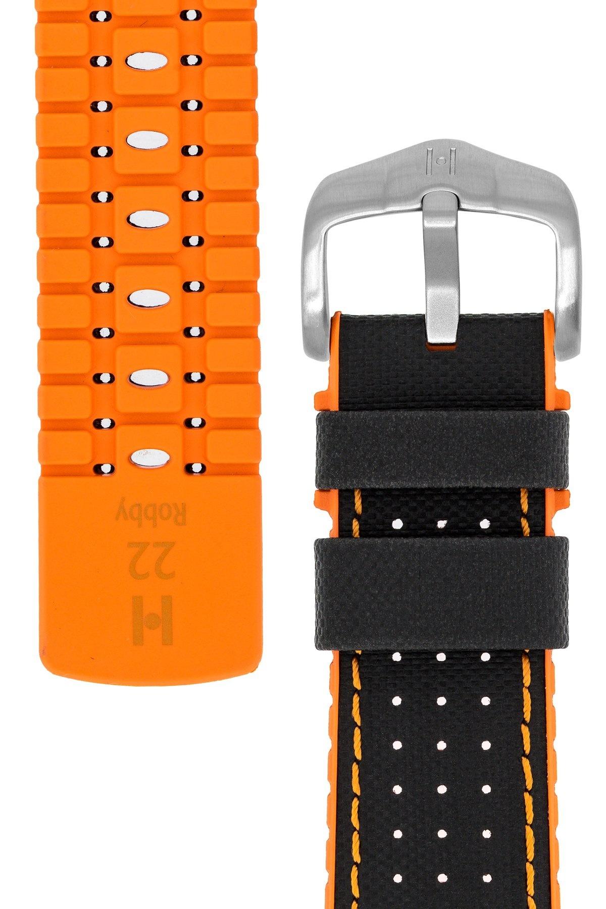 Horlogebandje Robby Kalfsleer + Premium Rubber 24 mm-3