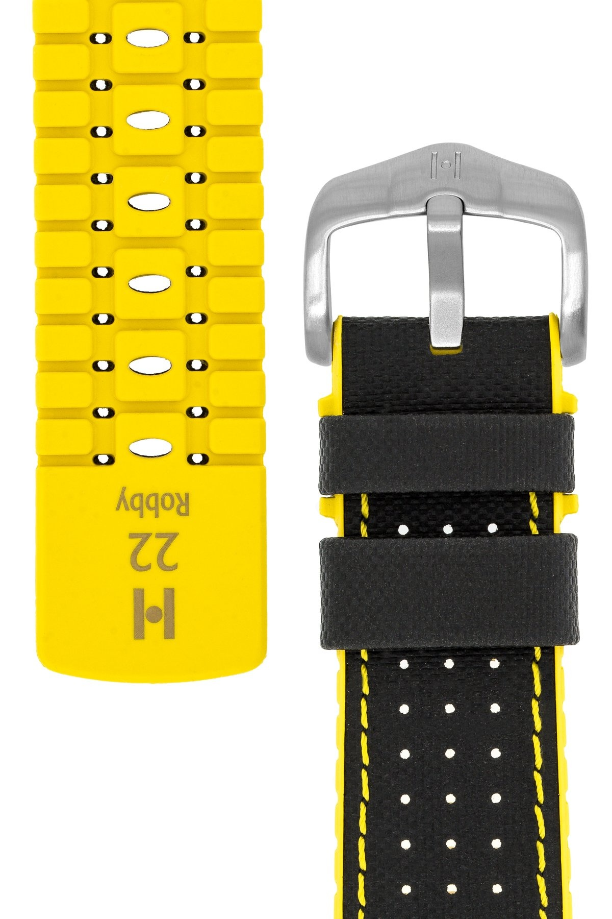 Horlogebandje Robby Kalfsleer + Premium Rubber 24 mm-5