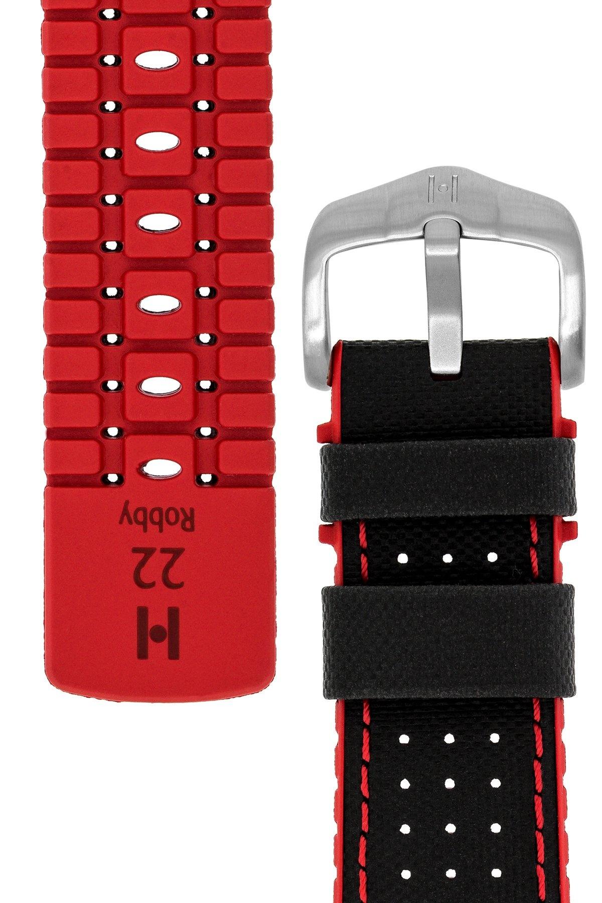 Horlogebandje Robby Kalfsleer + Premium Rubber 24 mm-7