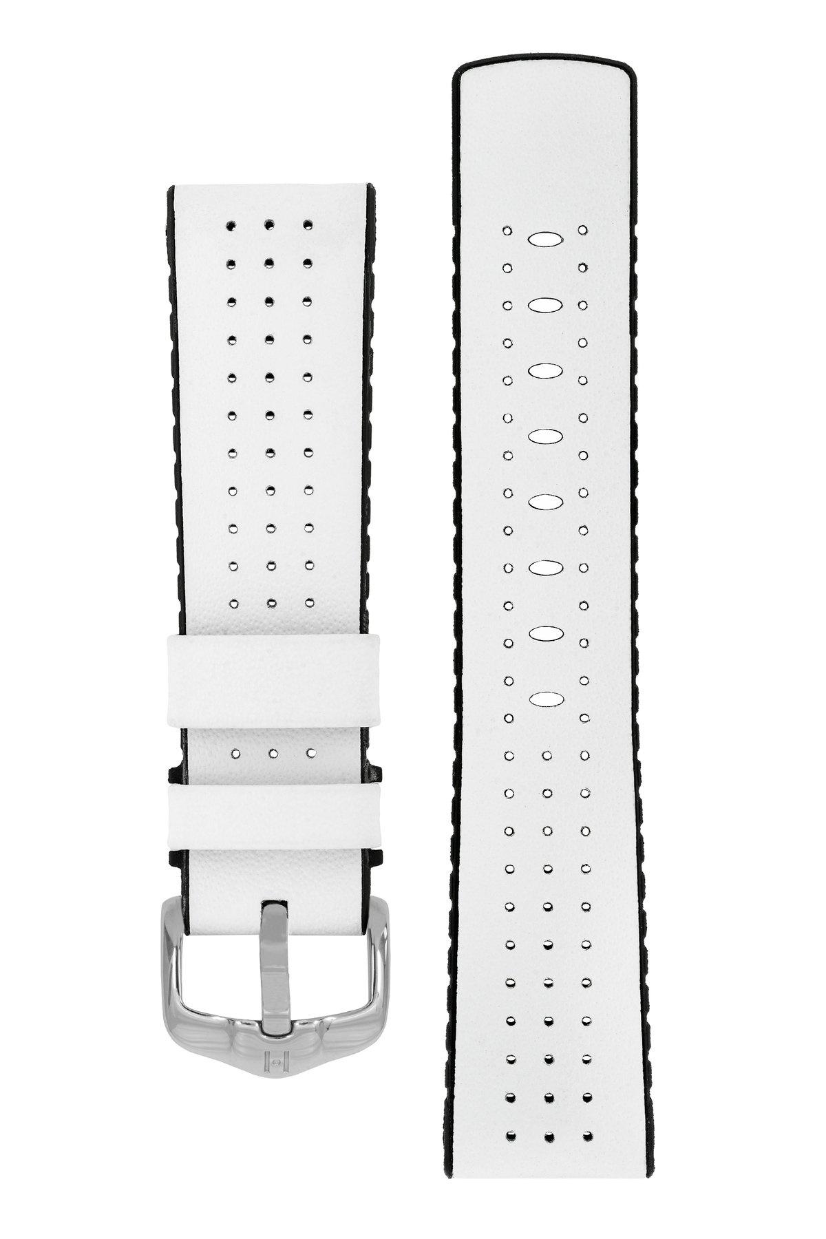 Horlogebandje Tiger Kalfsleer + Premium Caoutchouc (Rubber) 20 mm-3