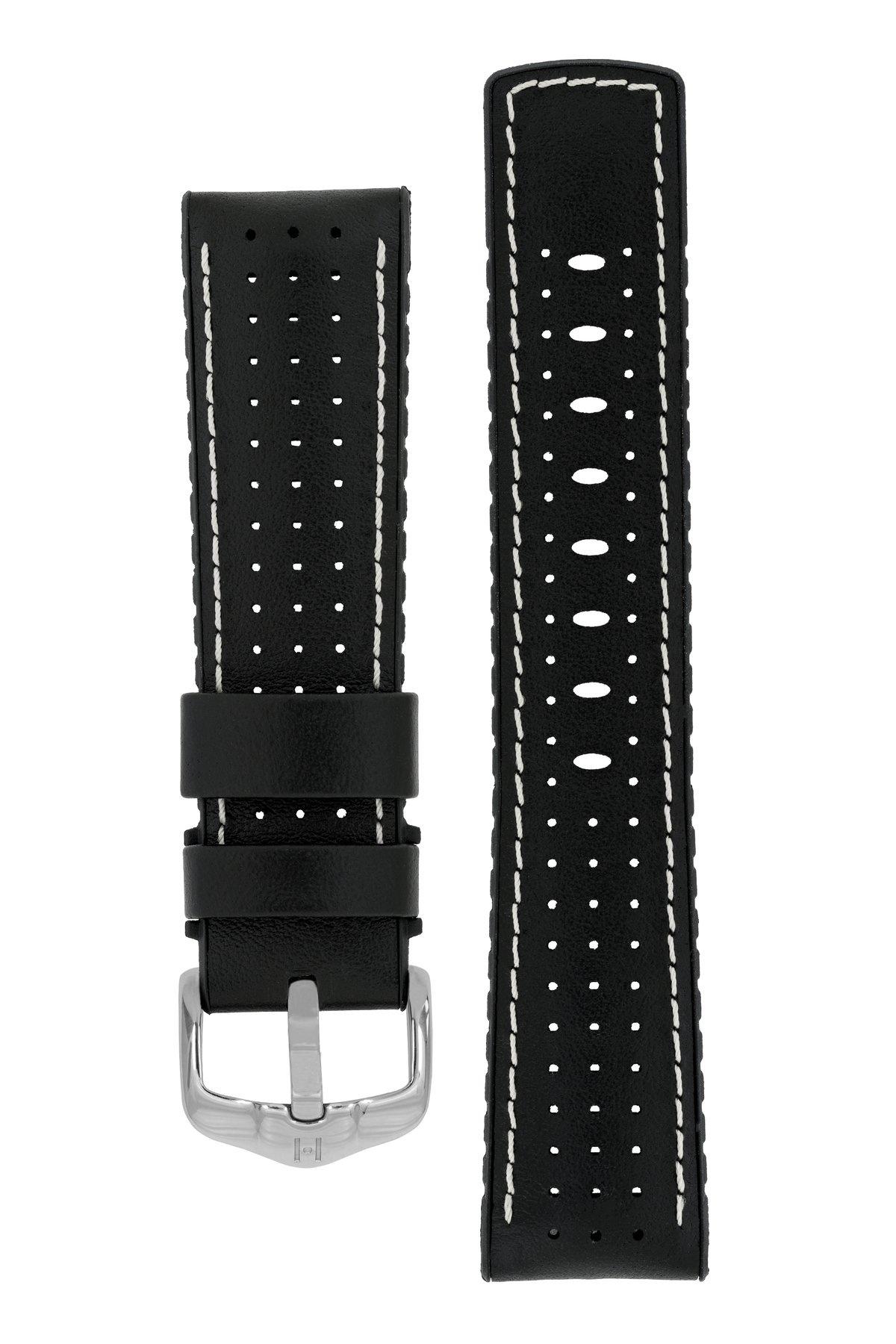 Horlogebandje Tiger Kalfsleer + Premium Caoutchouc (Rubber) 20 mm-4