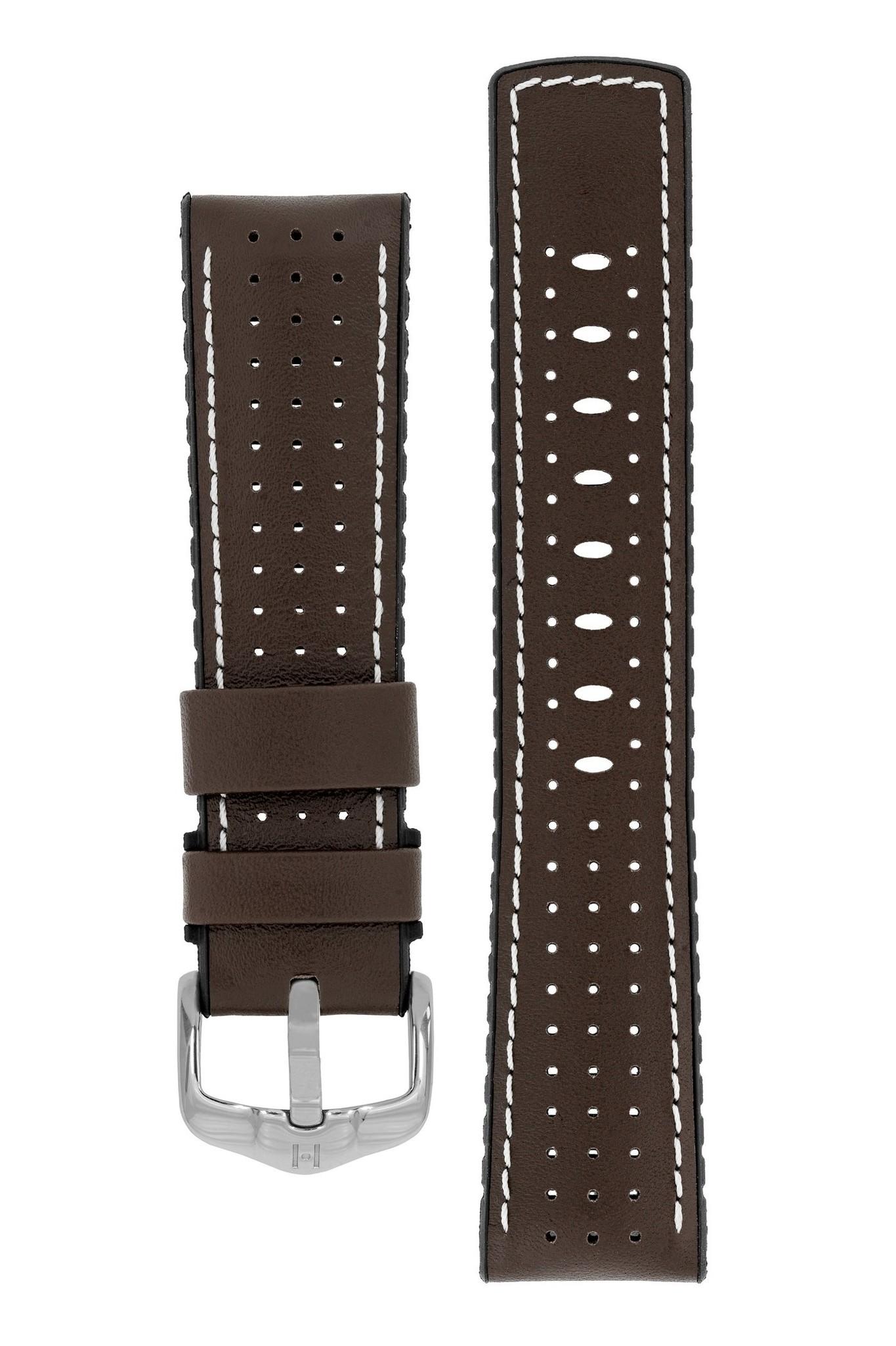 Horlogebandje Tiger Kalfsleer + Premium Caoutchouc (Rubber) 20 mm-6