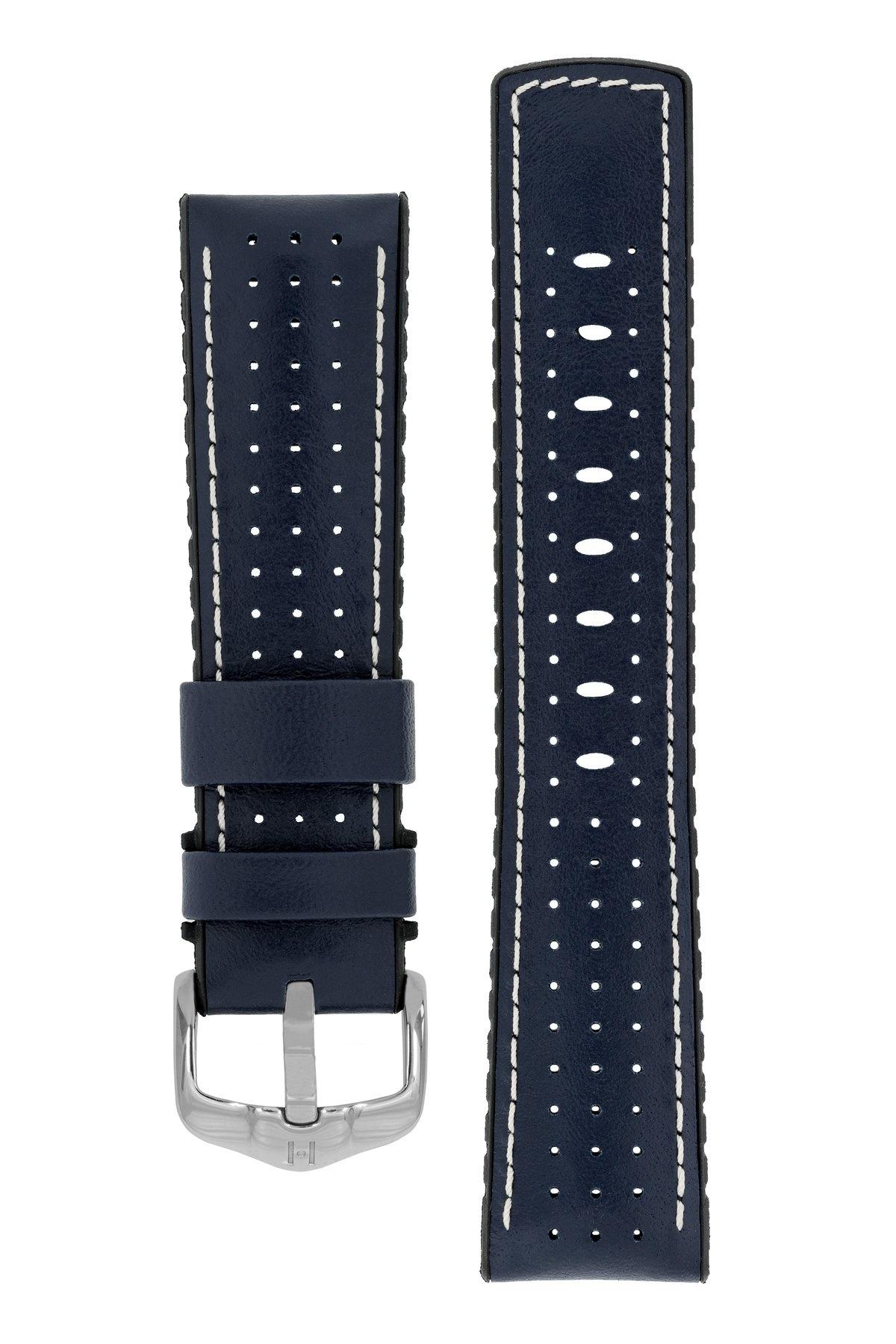 Horlogebandje Tiger Kalfsleer + Premium Caoutchouc (Rubber) 20 mm-8