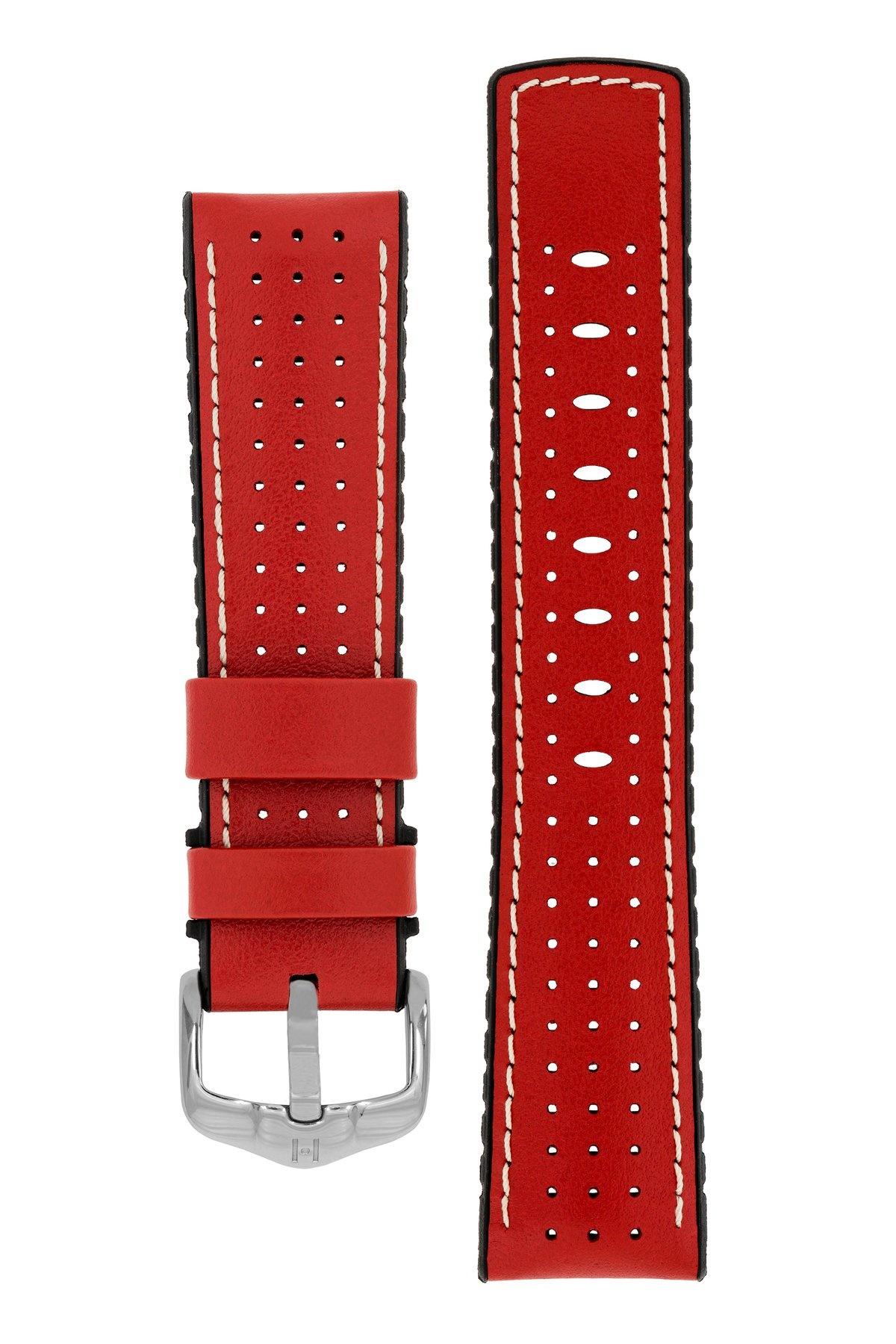 Horlogebandje Tiger Kalfsleer + Premium Caoutchouc (Rubber) 20 mm-10