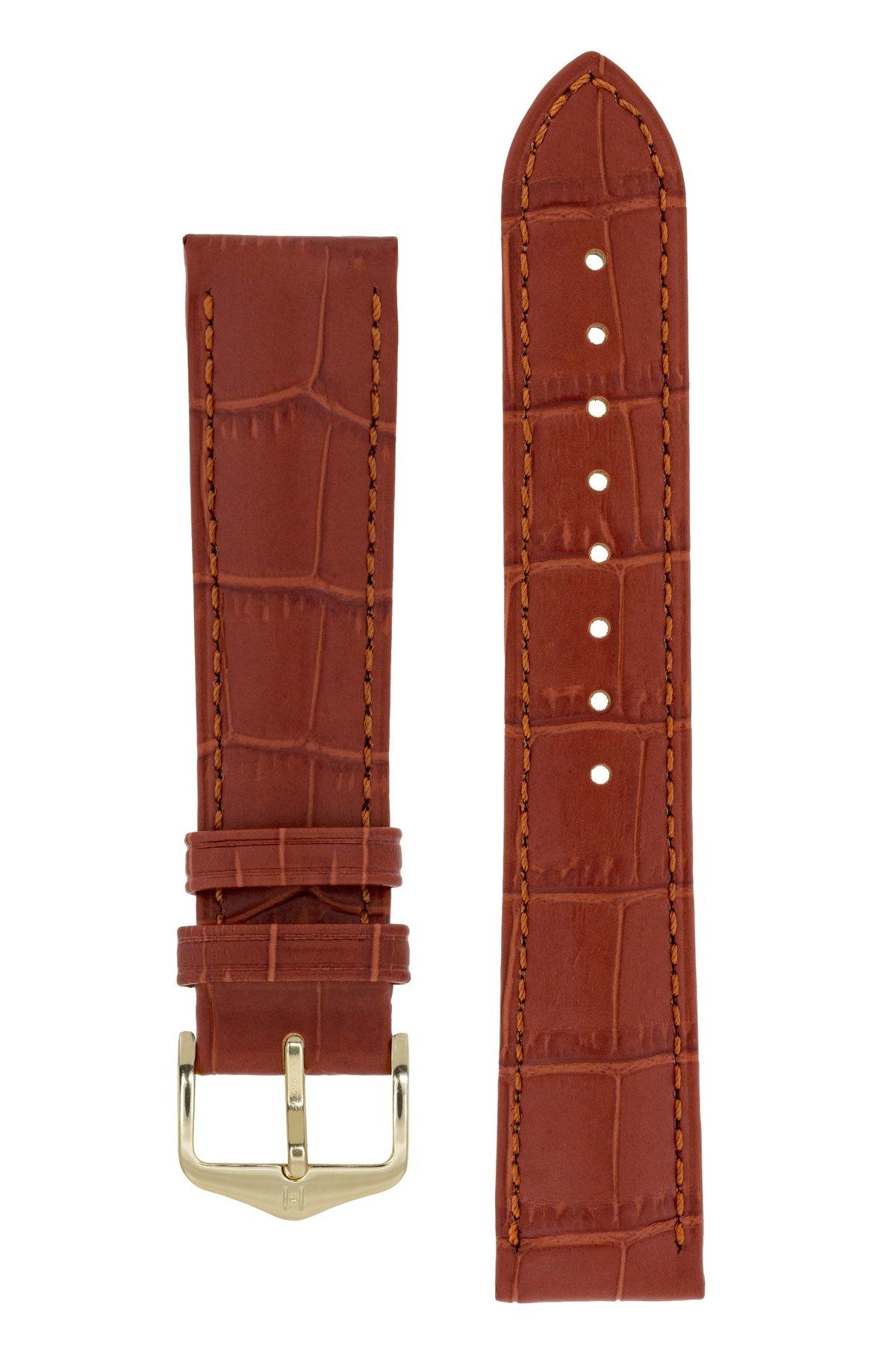 Horlogebandje Duke Alligator embossed Kalfsleer 16 mm-12