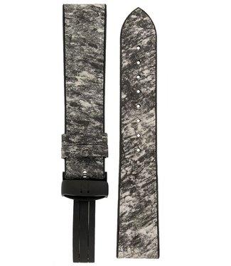 Hirsch Hirsch STONE Split Shale Rock Effect Performance Watch Strap in Grey/White18 mm