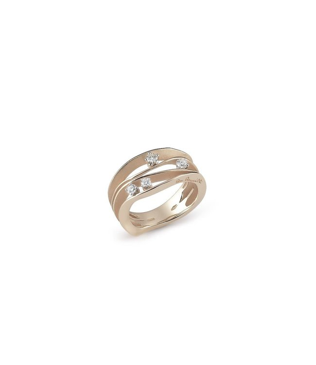 Dune Collection Ring, 18Kt Natural Beige Gold With Diamonds