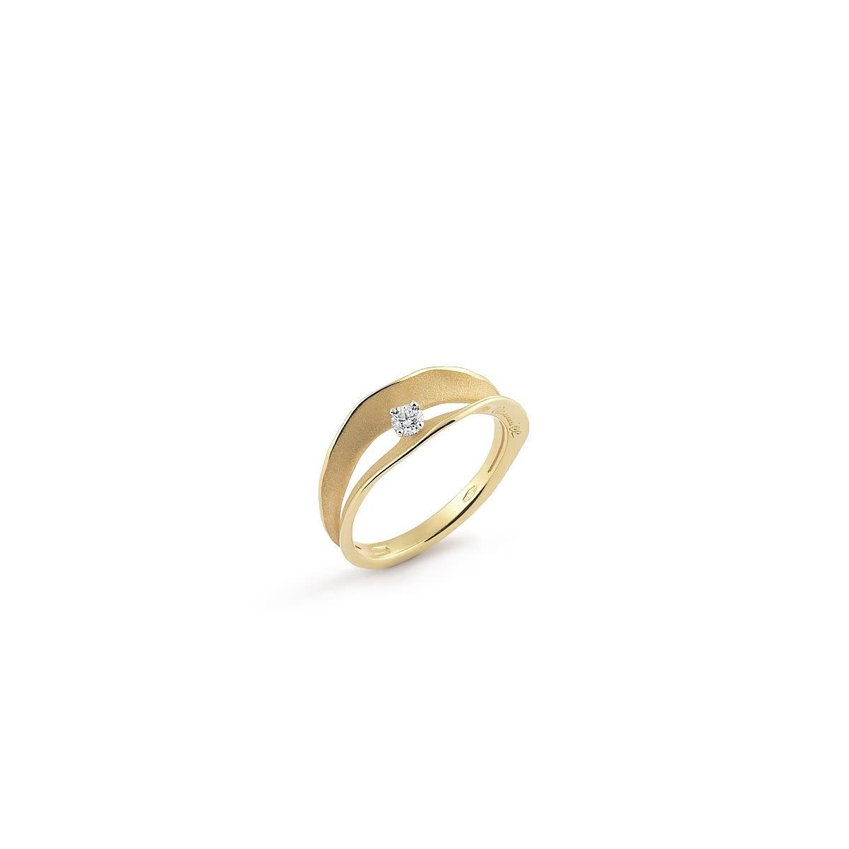 Dune Assolo Collection Ring, 18Kt Yellow Sunrise Gold With Diamonds-1