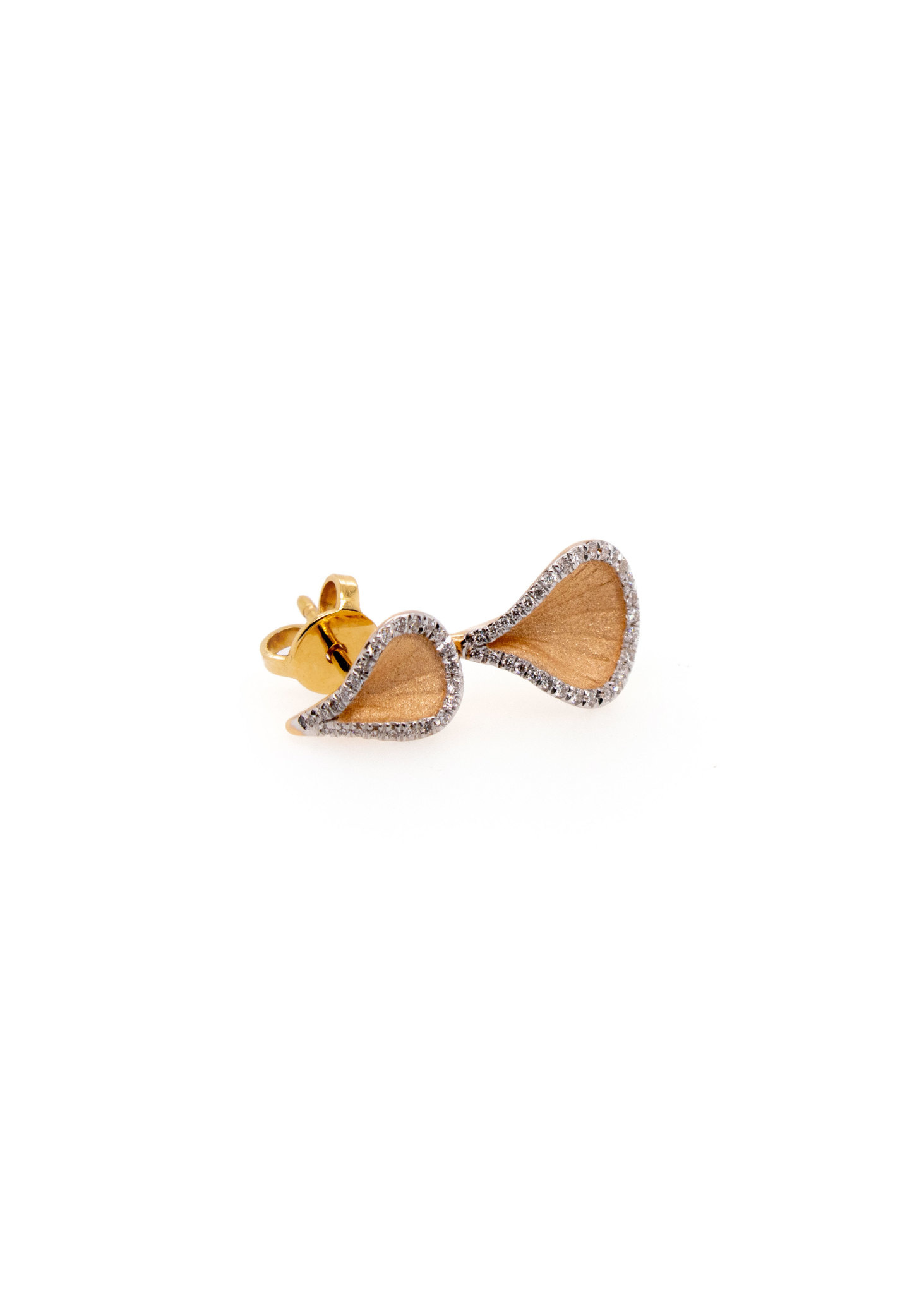 Goccia Collection Earrings, 18Kt Orange Apricot Gold With Diamonds-3