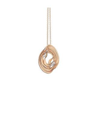 Annamaria Cammilli Dune Electa Collection Pendant, 18Kt Yellow Sunrise Gold With Diamonds