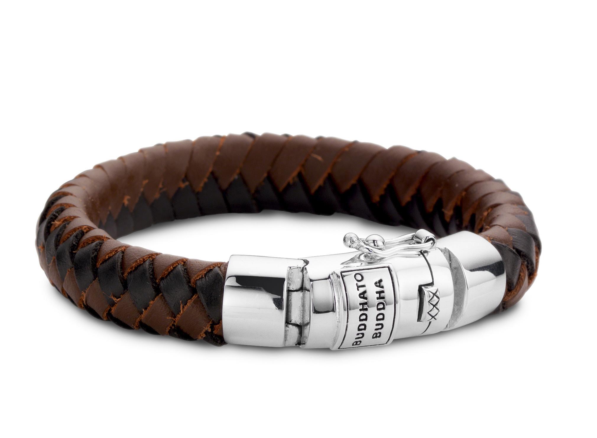 Ben Leather Bracelet Black & Brown-3