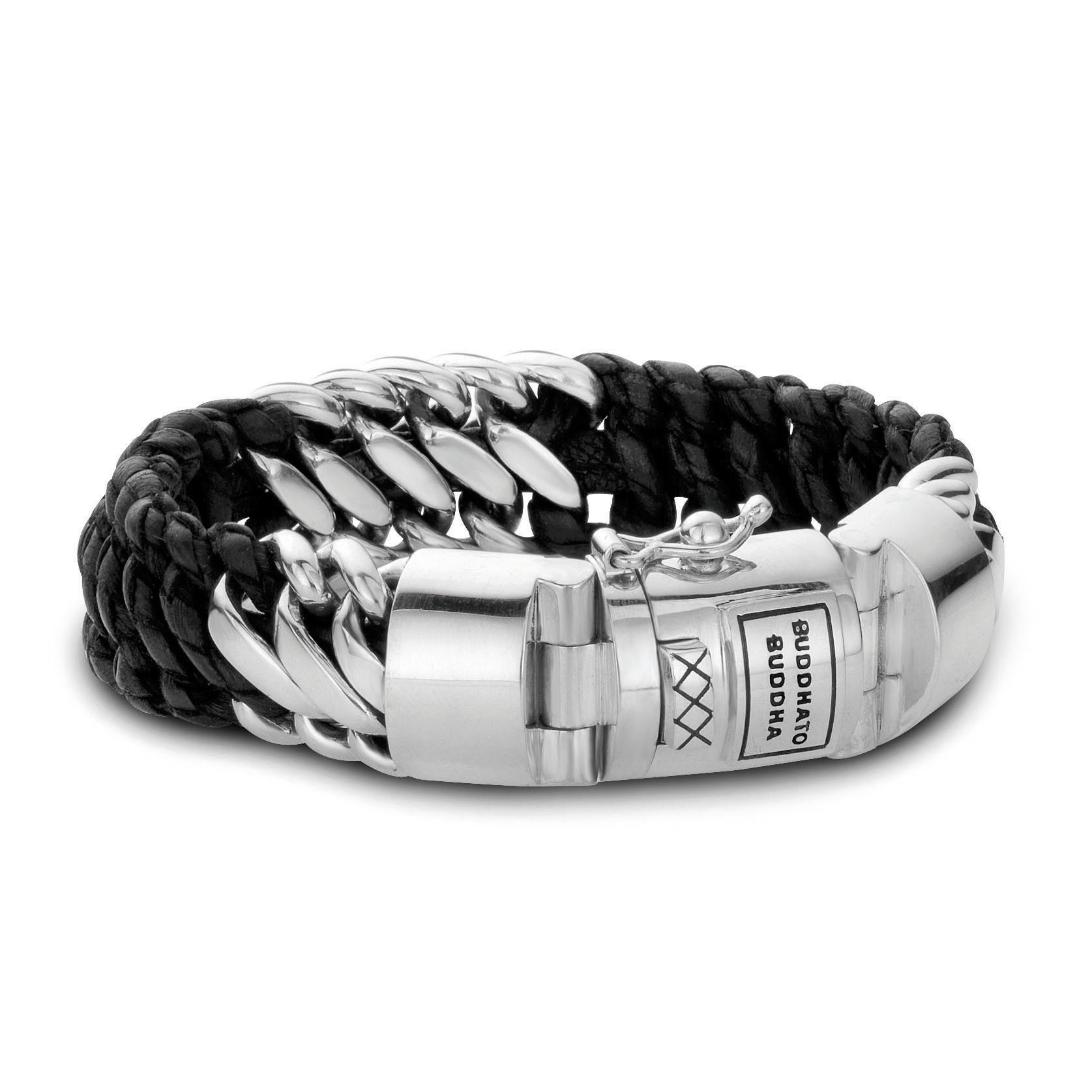 Ben Mix /Leather Bracelet Black-1