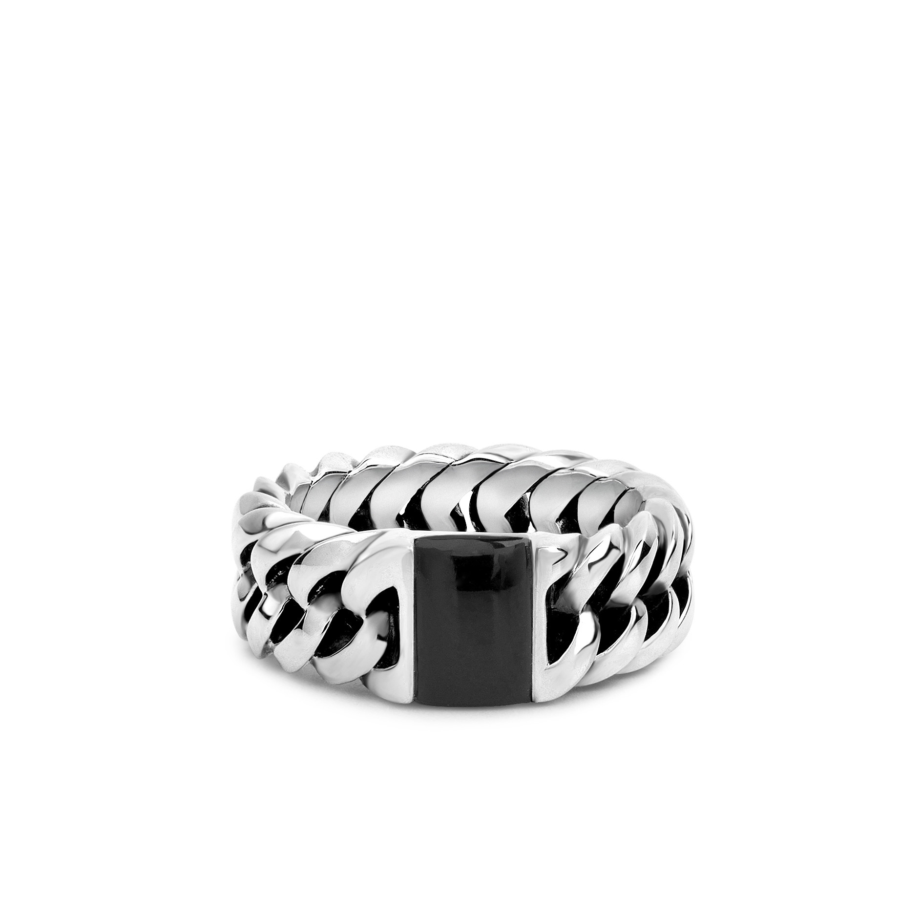 Chain Stone Ring Onyx-1