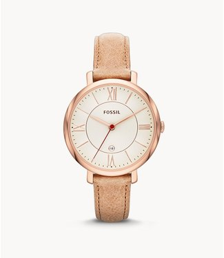 Fossil Fossil Jacqueline Sand Leather Watch ES3487