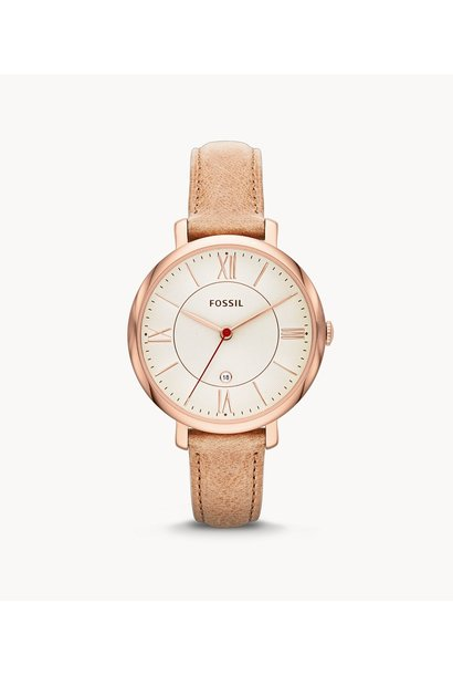 Fossil Jacqueline Sand Leather Watch ES3487