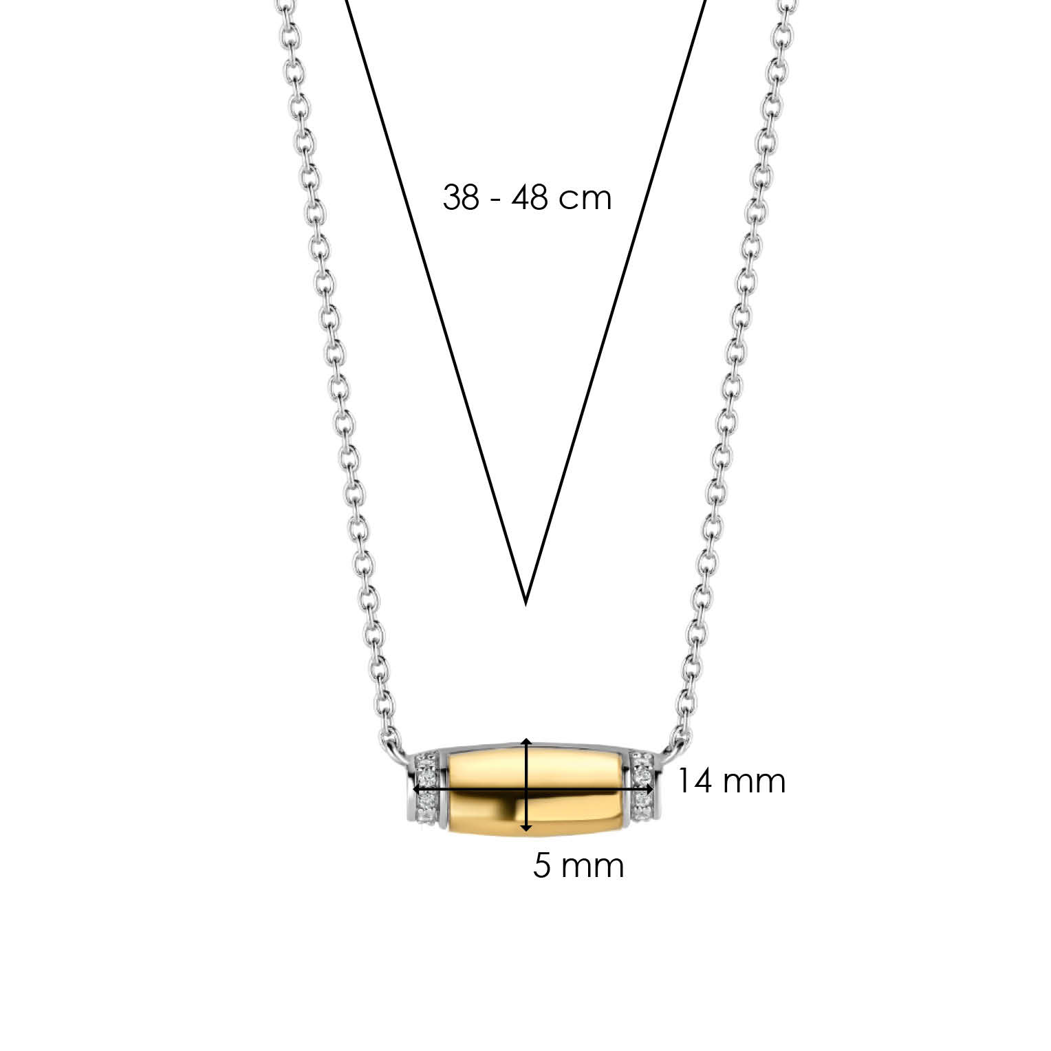 TI SENTO - Milano Necklace 3943ZY-5