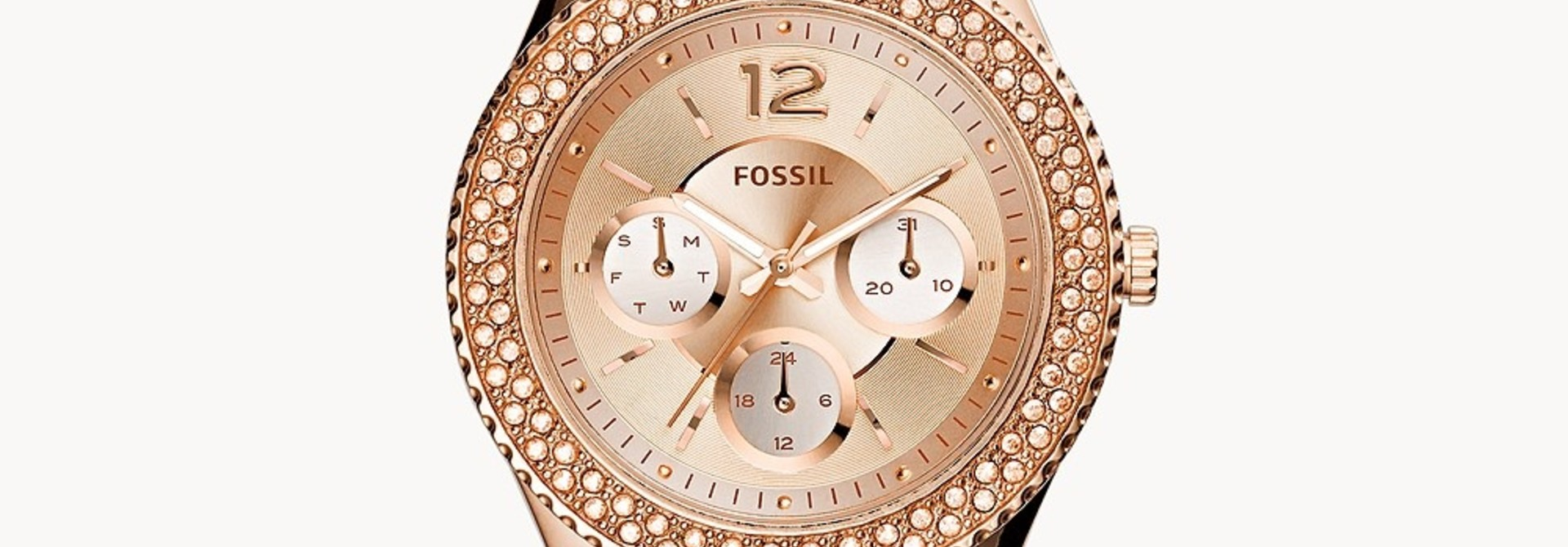 Fossil Stella Multifunction Rose-Tone Stainless Steel Watch ES3590