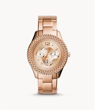 Fossil Fossil Stella Multifunction Rose-Tone Stainless Steel Watch ES3590