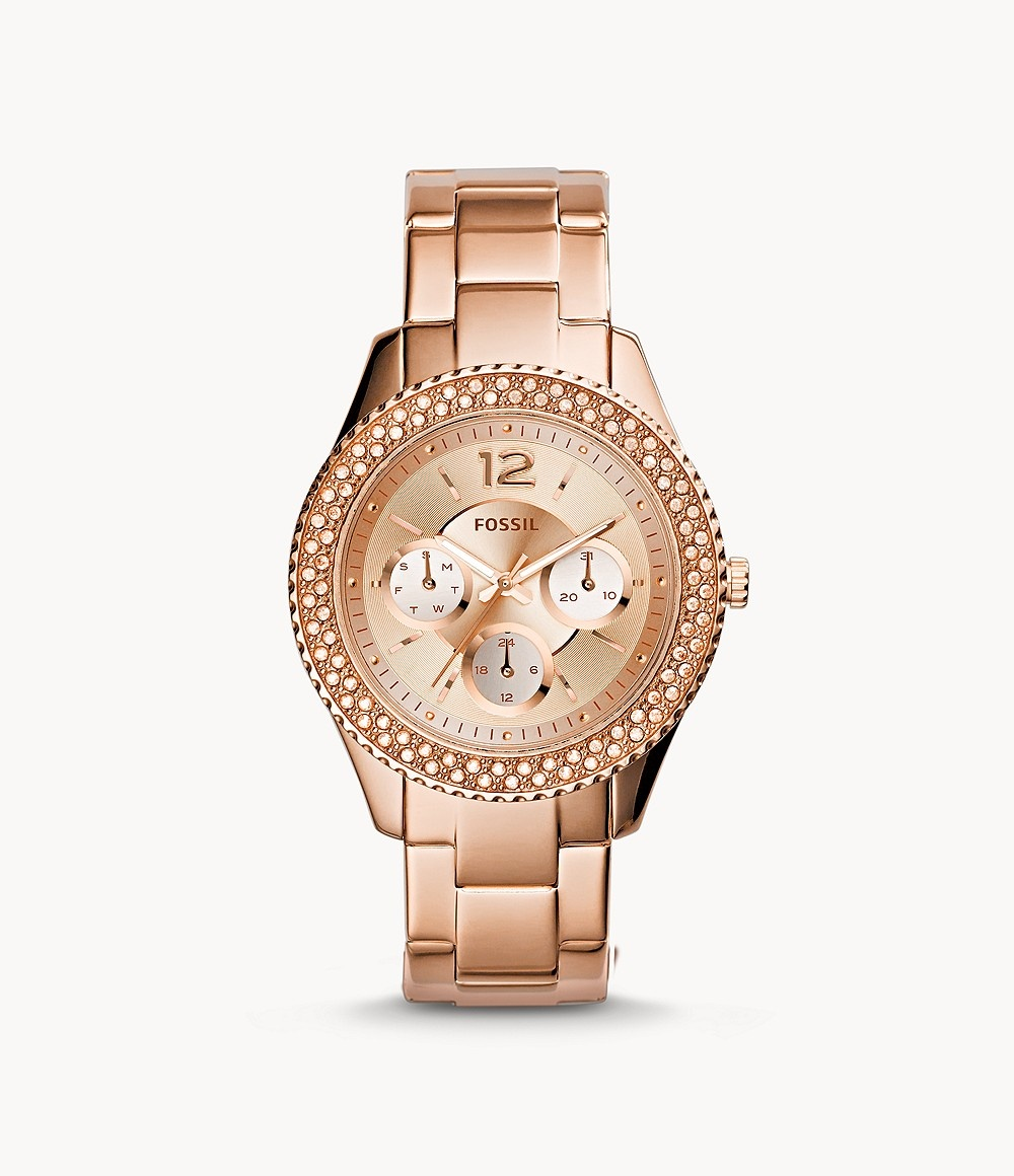 Fossil Stella Multifunction Rose-Tone Stainless Steel Watch ES3590-1