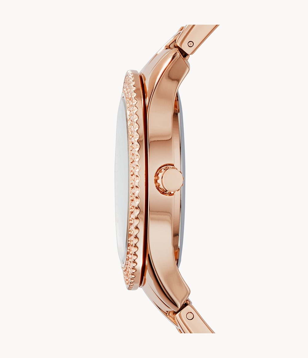 Fossil Stella Multifunction Rose-Tone Stainless Steel Watch ES3590-2