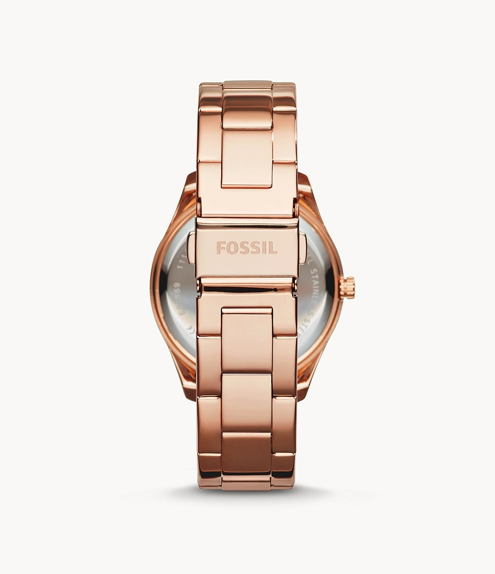 Fossil Stella Multifunction Rose-Tone Stainless Steel Watch ES3590-3