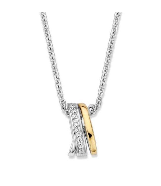 Excellent jewelry Excellent jewelry Hanger zilver/goud zirkonia