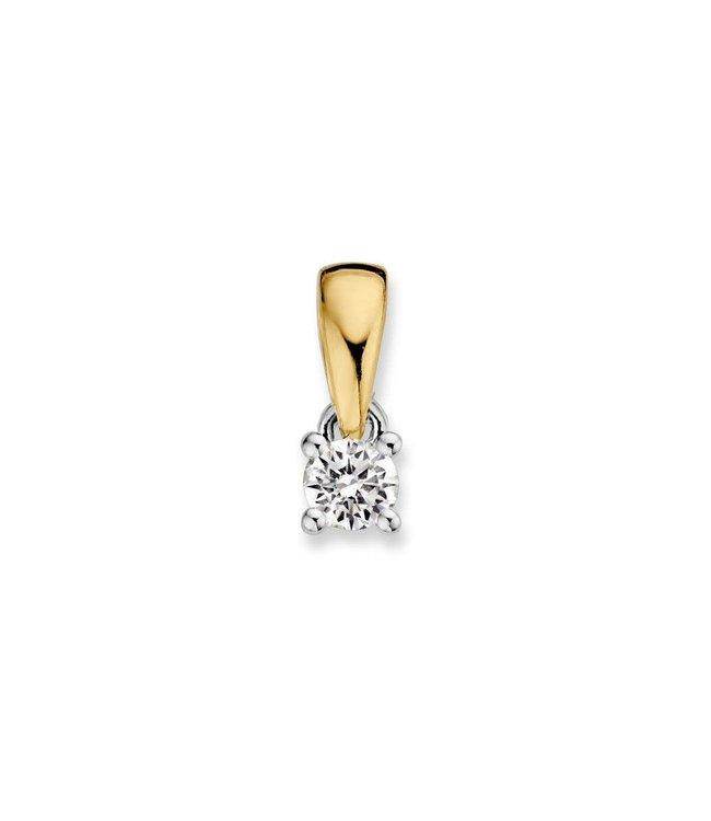 Excellent jewelry Excellent jewelry Hanger bicolor briljant 0,10 crt.
