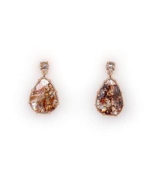 W. de Vaal W. The Vaal - Earrings 14krt Red Gold