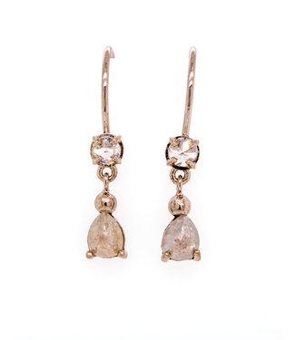 W. de Vaal W. de Vaal - Earrings 14krt White gold.