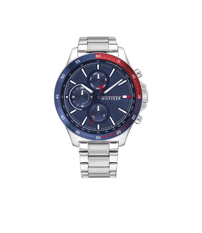 Tommy Hilfiger TH1791718 Horloge - Zilverkleurig 46mm
