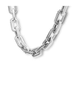 Buddha to Buddha Barbara Link Necklace Silver