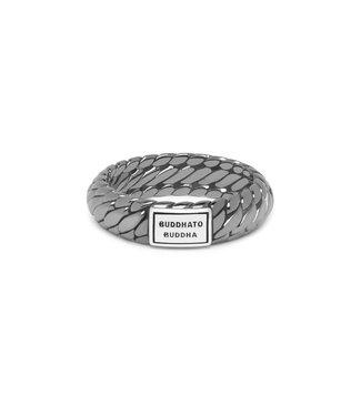 Buddha to Buddha Ben XS Ring Black Rhodium Shine Silver
