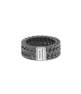 Buddha to Buddha Julius Ring Black Rhodium Silver