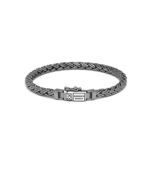 Buddha to Buddha Katja XS Armband Black Rhodium Shine Zilver