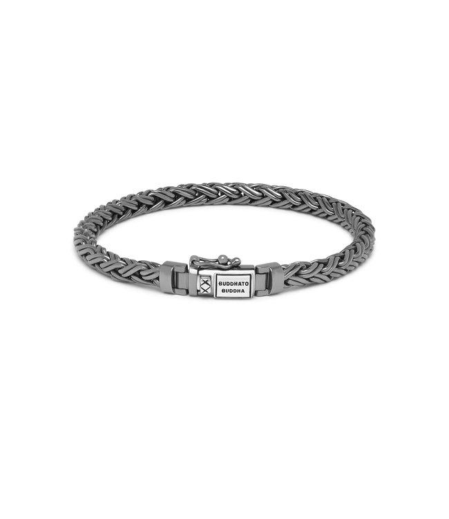 Buddha to Buddha Katja Xs Bracelet Black Rhodium Shine Silver