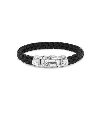 Buddha to Buddha Mangky Small lederen armband zwart