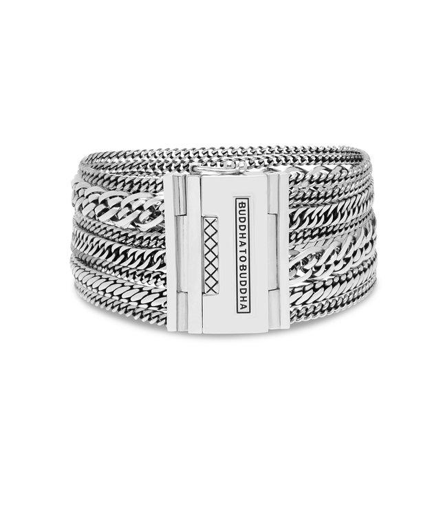 Buddha to Buddha Multi Chain Nathalie Bracelet Silver