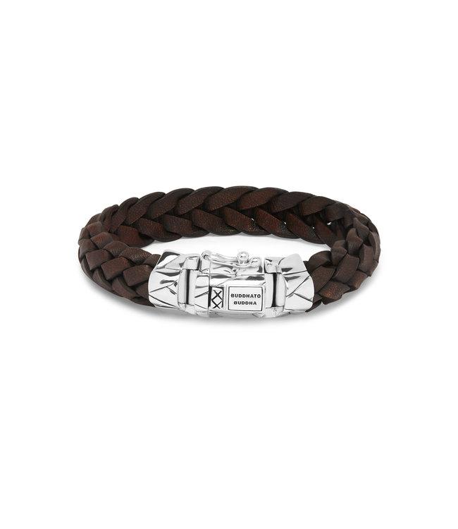 Buddha to Buddha Mangky Leren Armband Bruin
