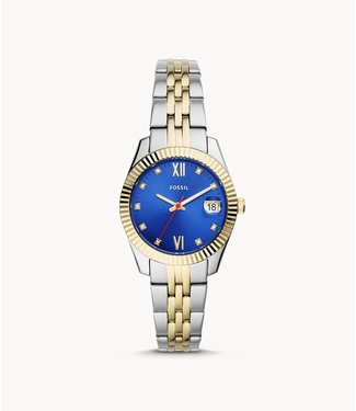 Fossil Fossil Scarlette Mini Three-Hand Date Two-Tone Stainless Steel Watch