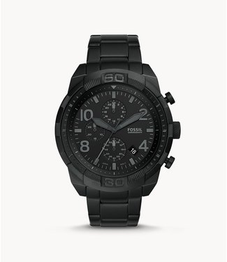 Fossil Fossil Bronson Chronograph Black Stainless Steel Watch FS5712
