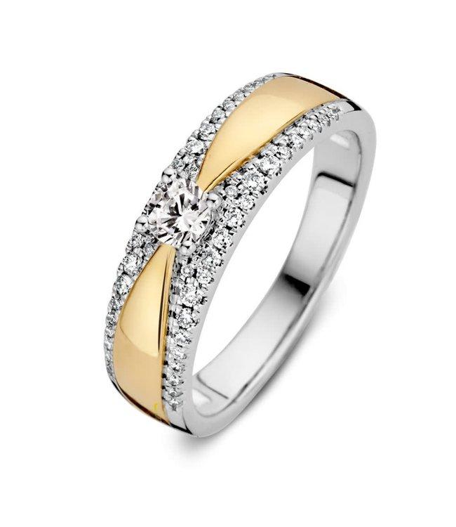 Excellent jewelry Ring bicolor briljant (Jaarring 2021)