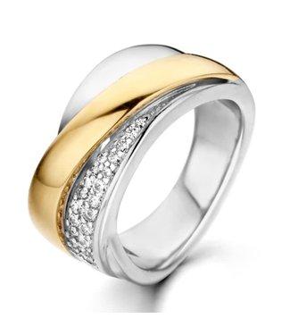 Excellent Jewelry Ring zilver/goud zirkonia RF626041